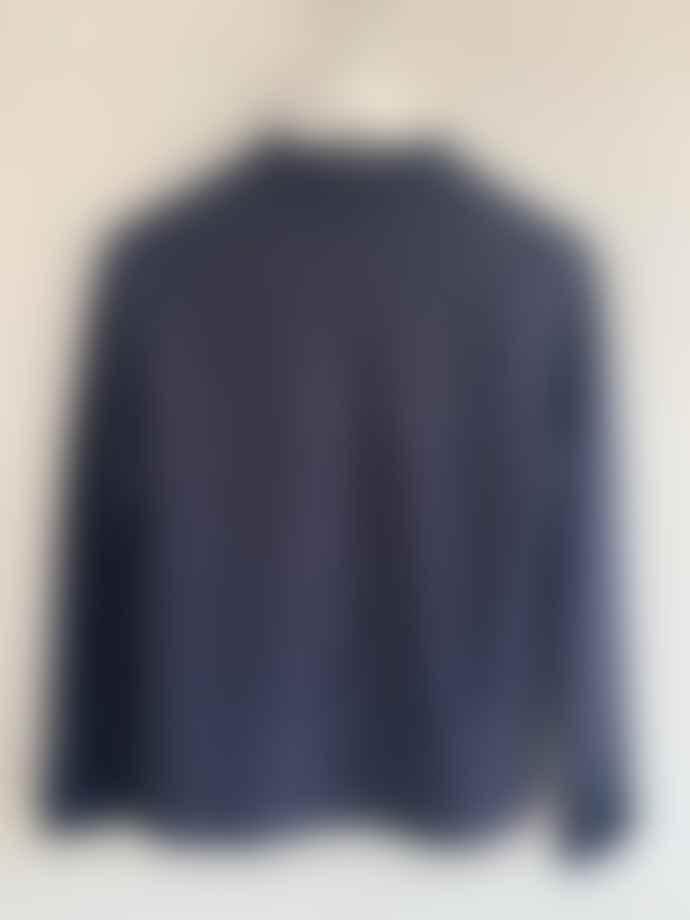 Transit 9441 A Line Knit Jacket Blue