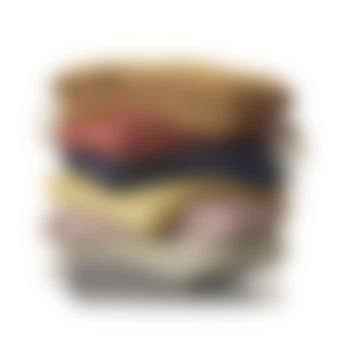 Klippan Chevron lambswool plaid dark denim