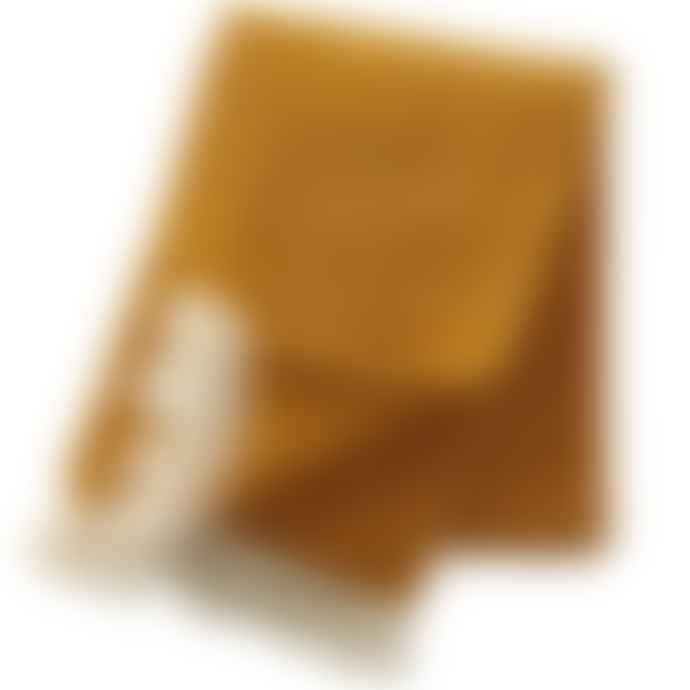 Klippan Ralph lambswool plaid Mustard