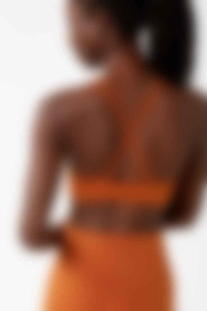Girlfriend Collective Trail Orange Topanga Bra