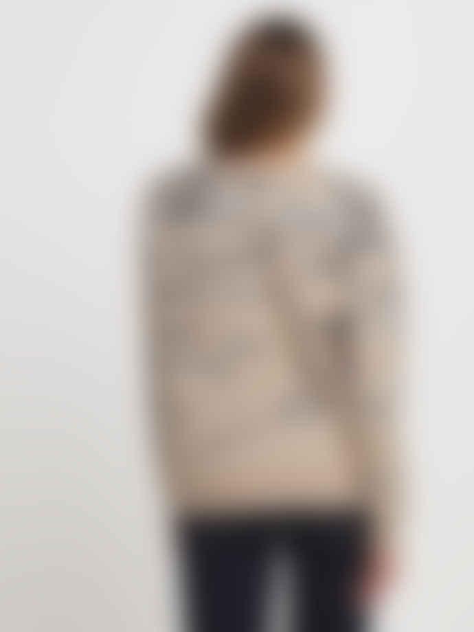 Vila Beige Fluffy Jacquard Sweater