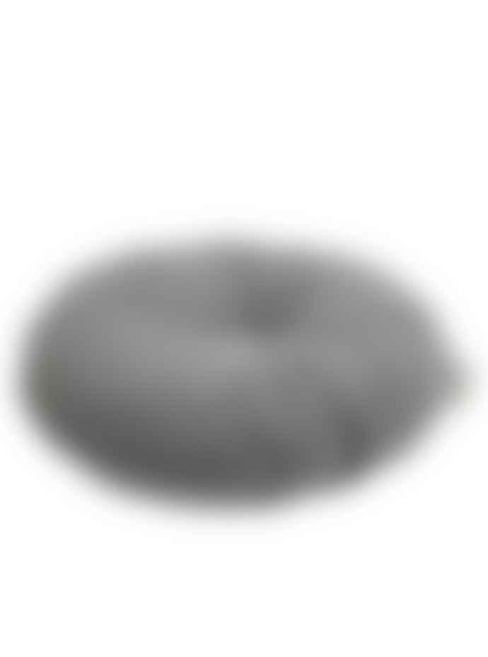 wigiwama Round Velvet Cushion Grey White