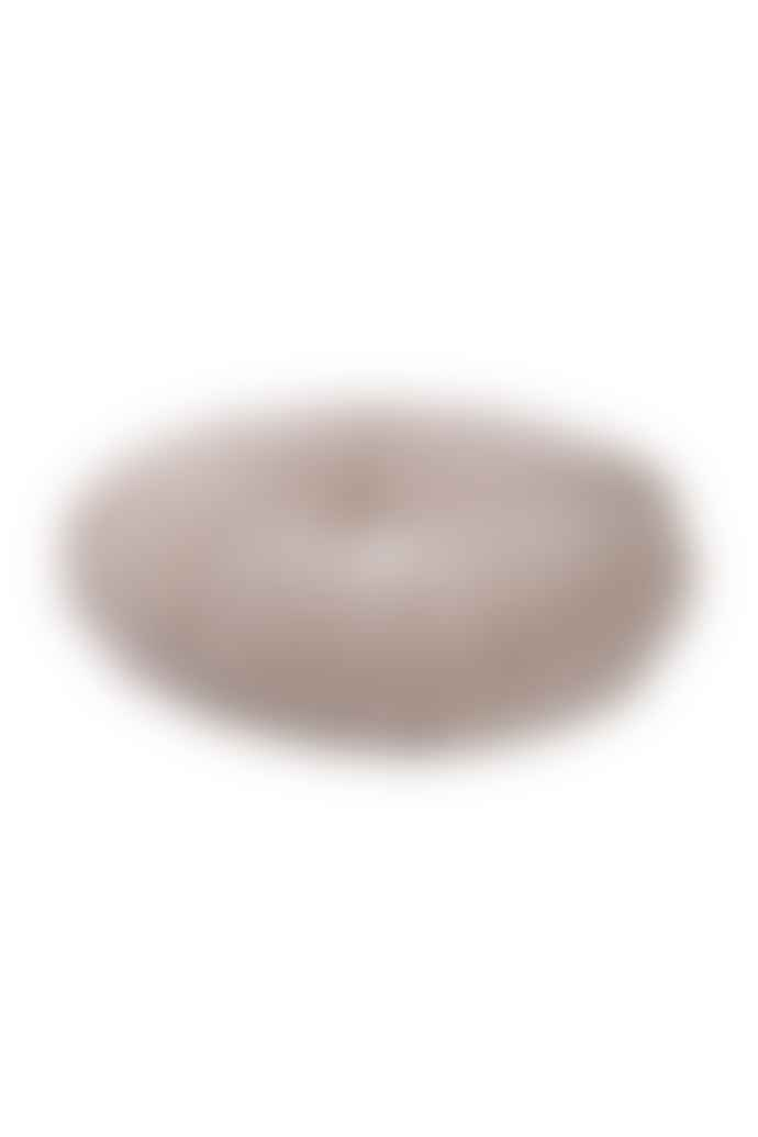 wigiwama Round Velvet Cushion Beige White
