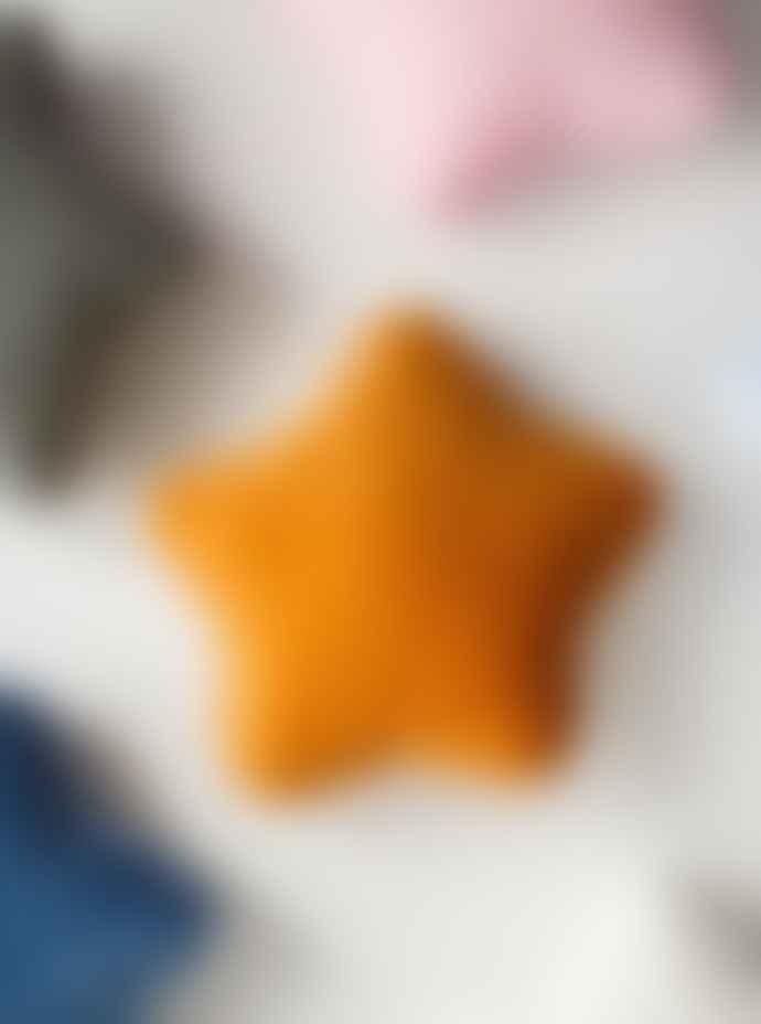 wigiwama Mustard Velvet Star Cushion
