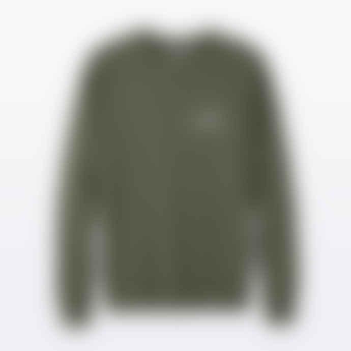 The Level Collective  Peaks Sweater Khaki Organic Cotton