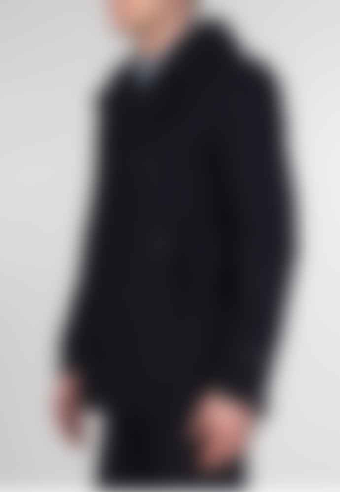 Merc London Doyle Dark Navy Pea Coat