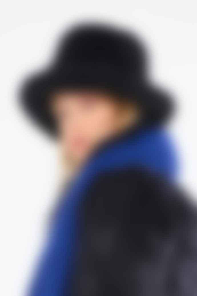 OOF WEAR Black Faux Fur Fishermans Hat