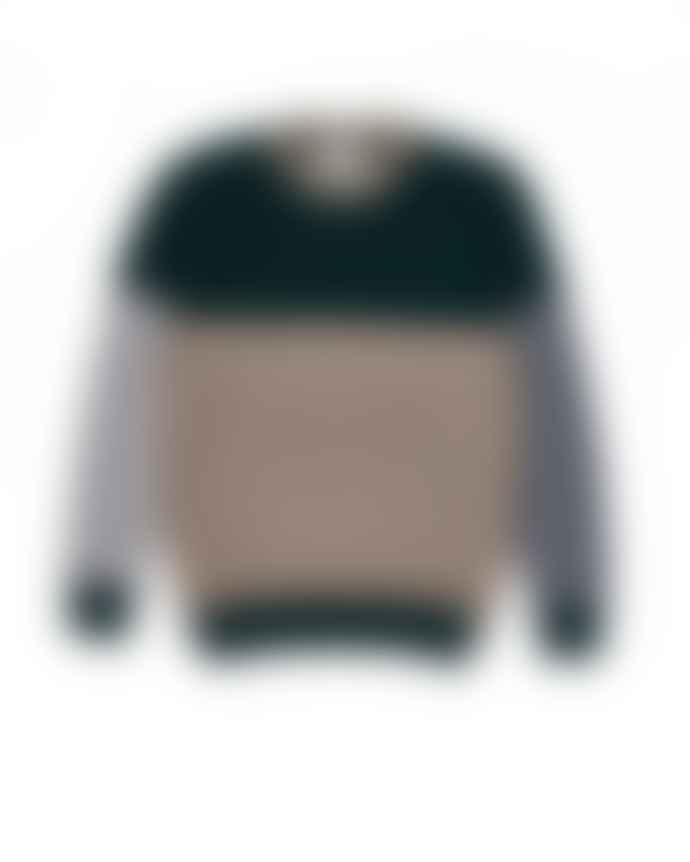 Country of Origin Tri Half Crew Sweater Tartan Mushroom