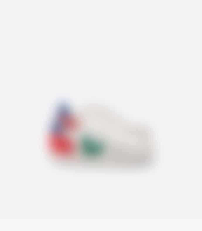 Veja V-12 Leather White Emeraude Pekin Shoes