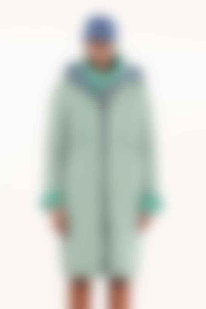 OOF WEAR Reversible Long Parka Cerulean Aquamarine