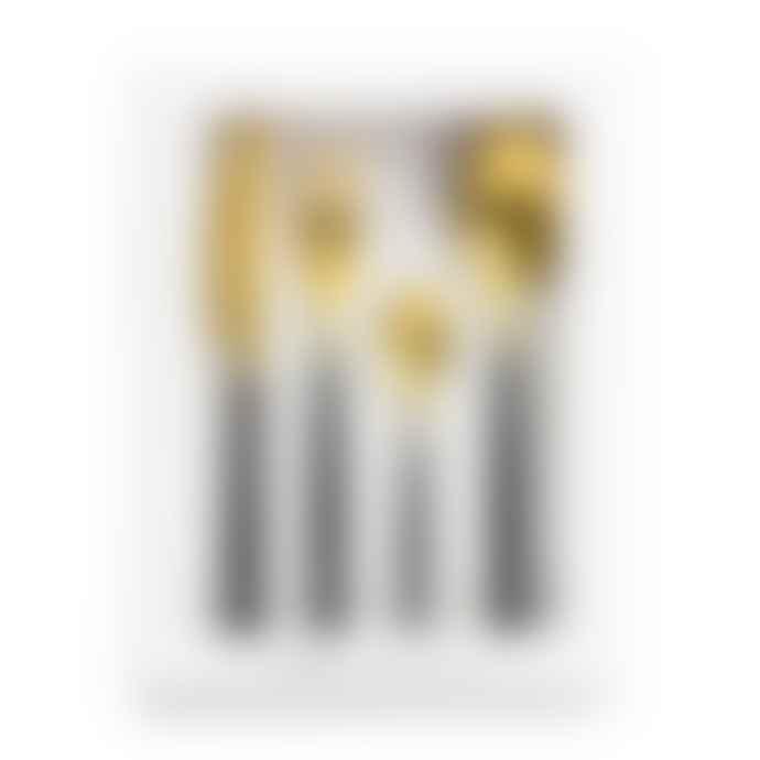 Chickidee Rome Matte Gold Black Cutlery Set X 1
