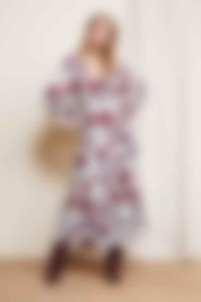 Fabienne Chapot Purple Rain Roses Print Coco Dress