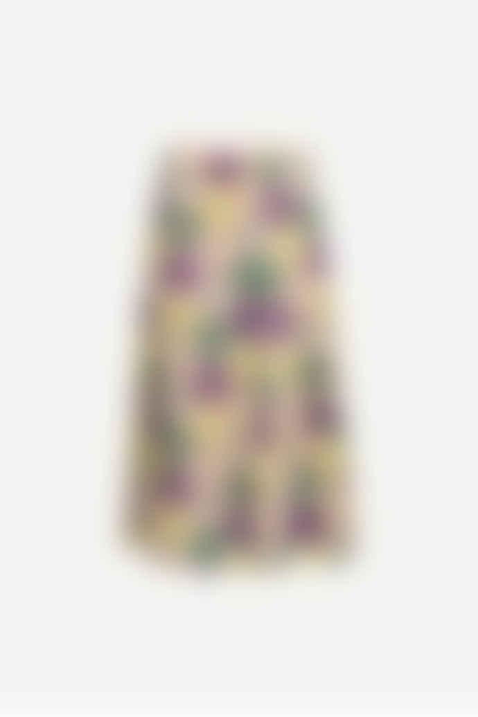 SamsoeSamsoe Flower Print Henny Sequin Skirt