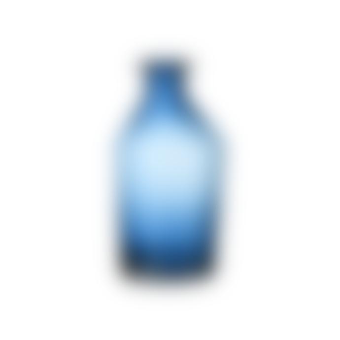 Nkuku Indigo Medium Zaani Glass Vase