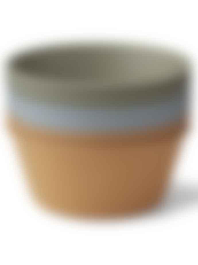 Liewood Greta Bamboo Bowl 6 Pack In Blue Multi Mix