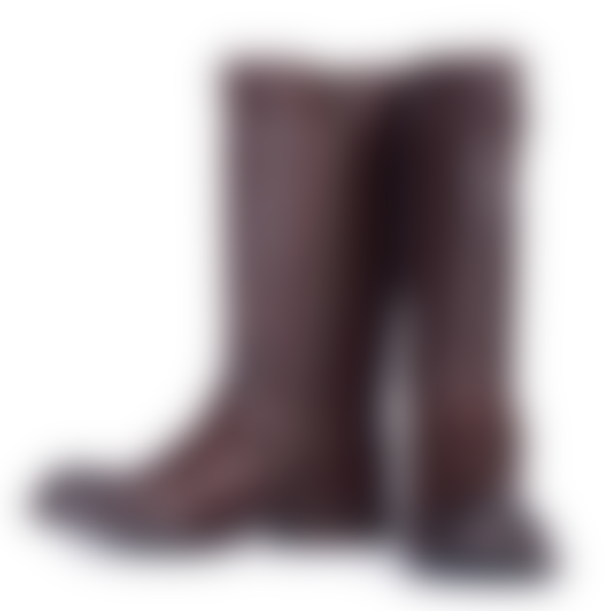 Barbour International  California Long Leather Boots Brown