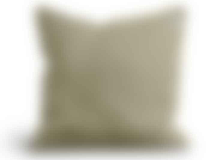 Lovely Linen Linen Misty Raw Edge Cushion in Harmony
