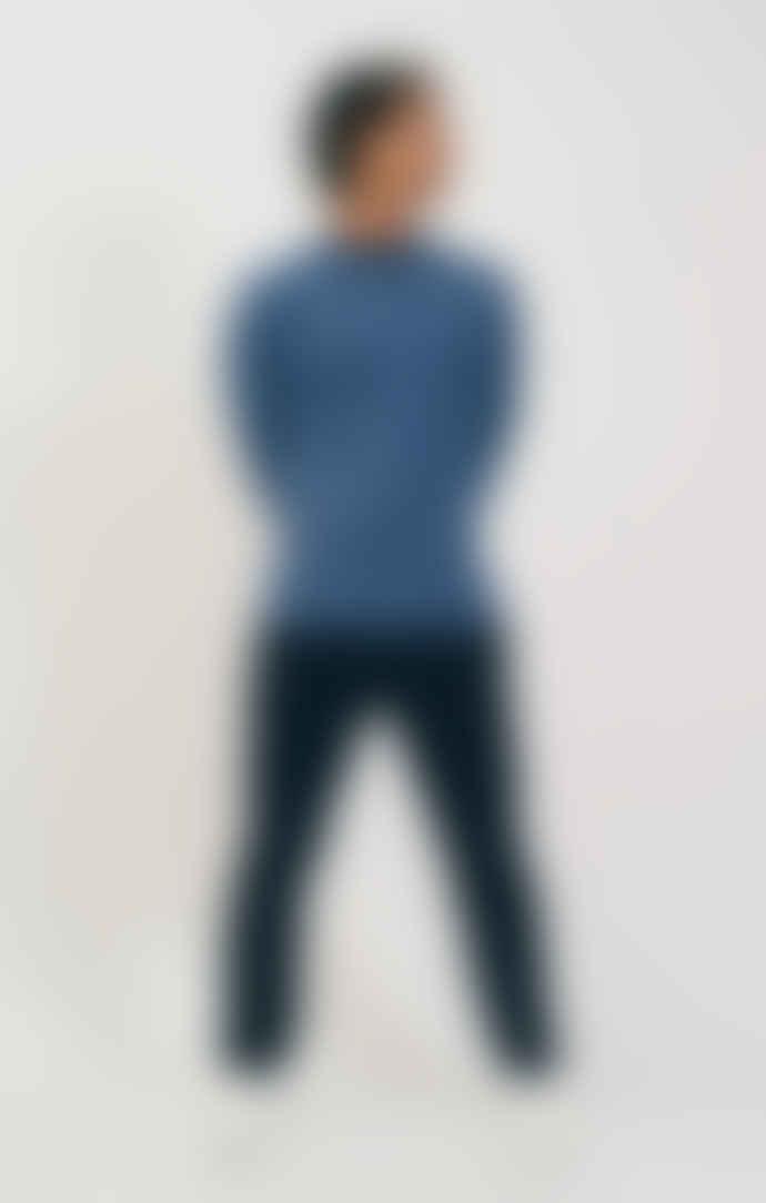 Shio Blue Marl Mens Long Pullover