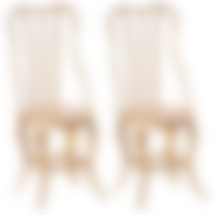Maileg Pack of 2 Micro Gold Vintage Chair