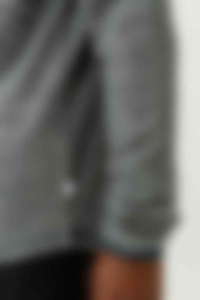 Knowledge Cotton Apparel  Grey Stripe Walnut Hemp Sweater