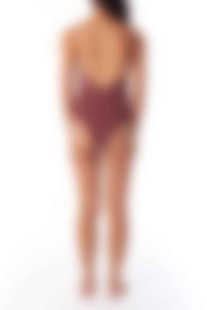 Rhythm. Burgundy Tulum One Piece Swimsuit