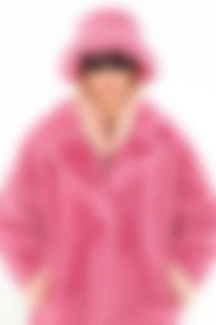 OOF WEAR Teddy Coat In Flamingo