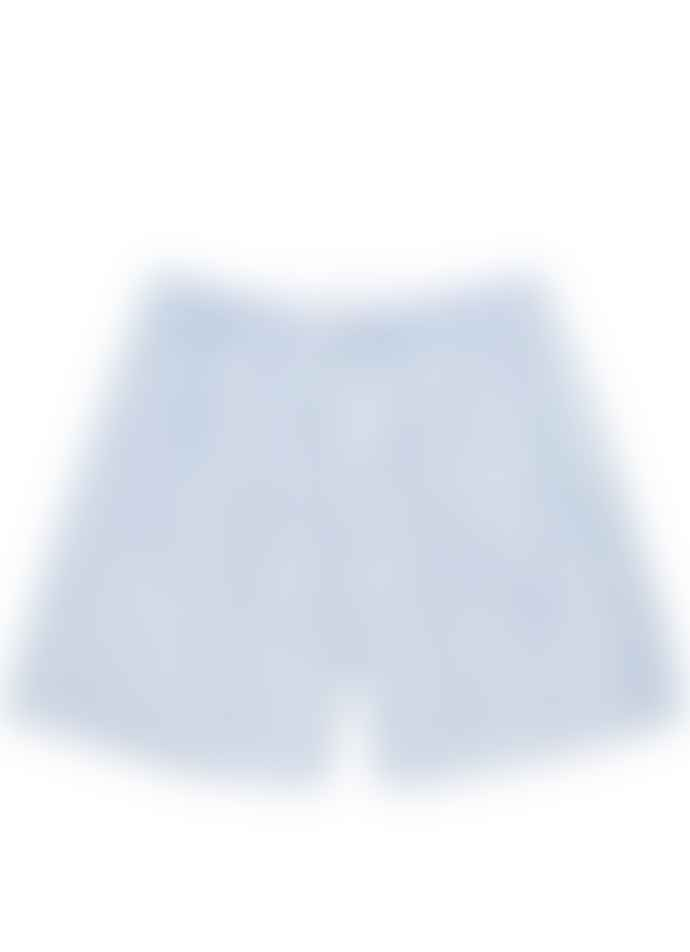 Sunspel Long Cut Boxer Short Plain Blue