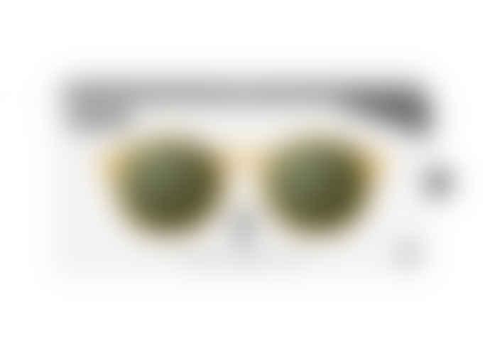 IZIPIZI Yellow Honey D Shaped Sunglasses
