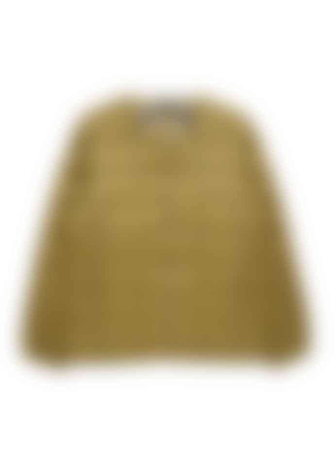 Taion Crew Neck Button Jacket - Beige