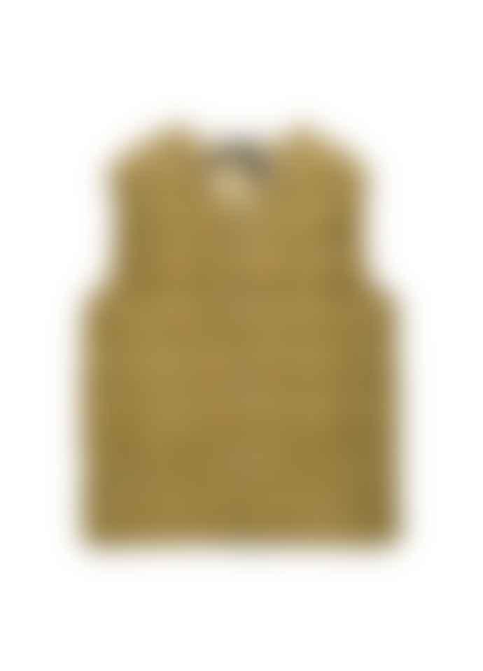 Taion V Button Down Vest - Beige