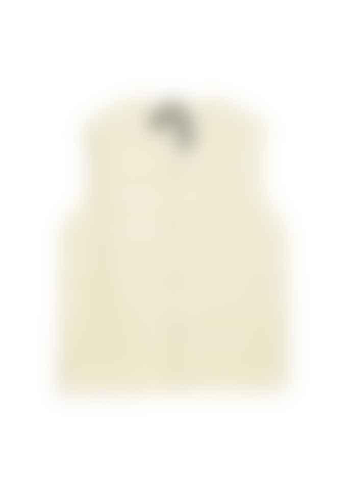 Taion V Button Down Vest - Off White