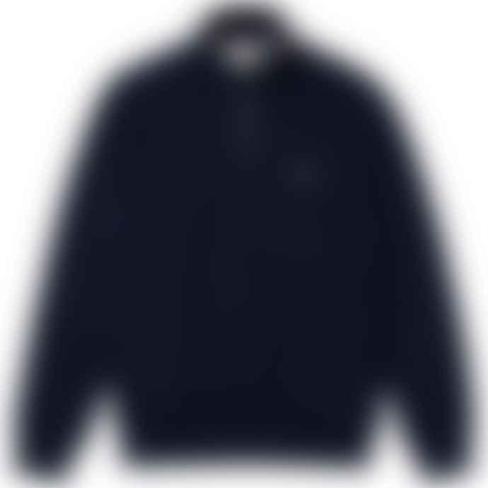 Lacoste Navy Cotton 1/2 Zip Sh 1927 Sweat