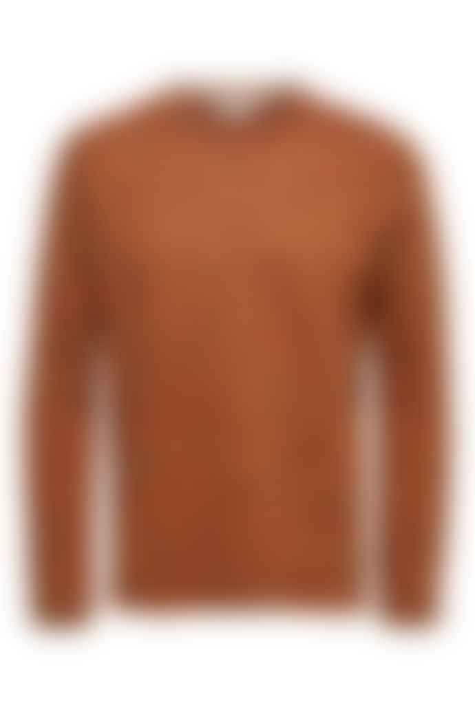 Selected Homme Orange Melange Jay Crew Knit