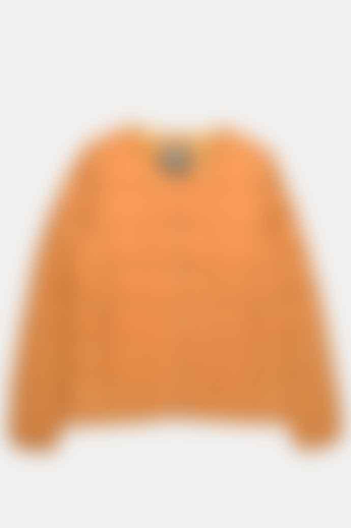 Taion Women's Crew Neck Button Down Jacket D Orange