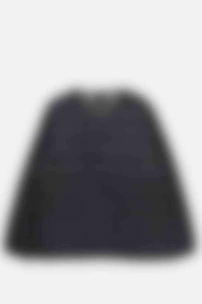 Taion Men's Crew Neck Button Down Jacket Black