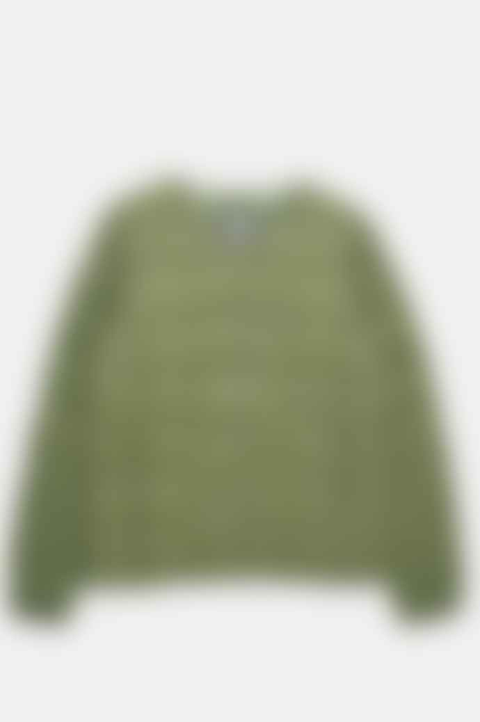 Taion Women's Crewneck Button Down Jacket In Olive