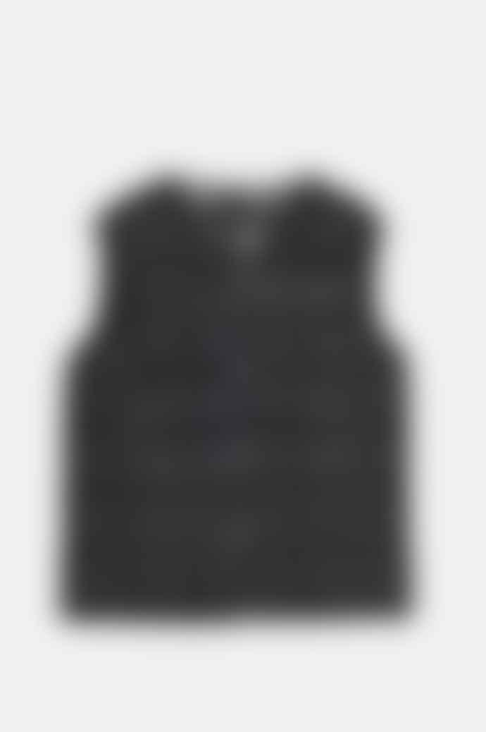 Taion Women's Crew Neck Button Down Vest In Black