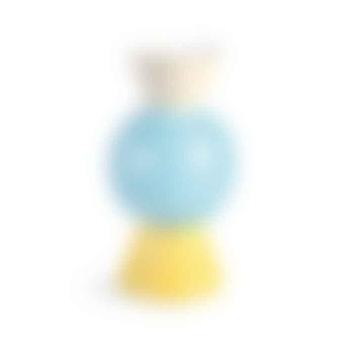 &klevering Blue Origami Vase