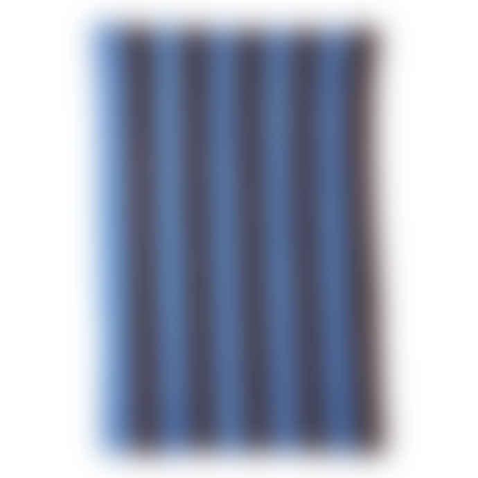 HKliving Blue & Purple Striped Bedspread