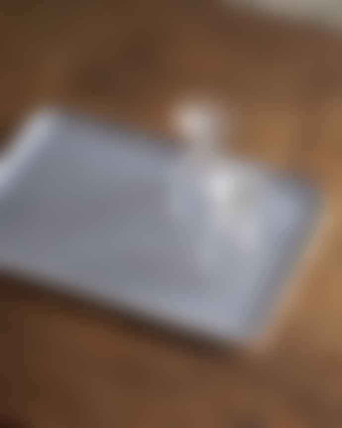 Fog Linen Work Navy White Stripe Linen Trays