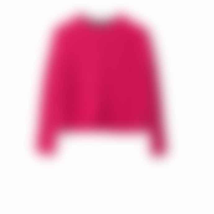 Delicate Love Fuschia Pink Clair Chenille Cable Sweater