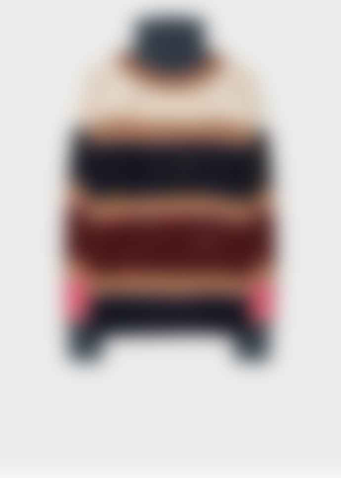 Paul Smith Striped Roll Neck Sweater with Knot Stitch