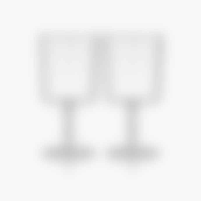 Maison Balzac Set of 2 Wine Glasses - Clear with Stars