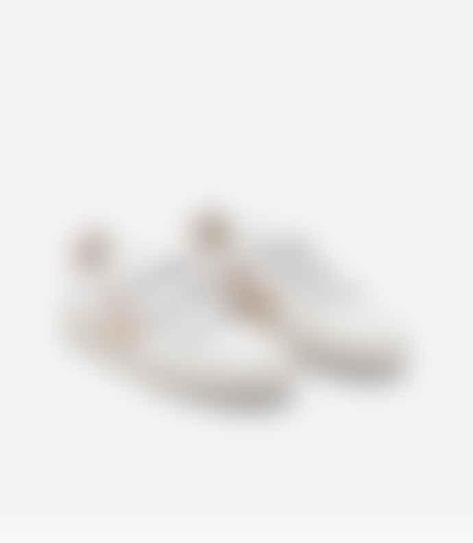 Veja V-Lock Leather White Sable Sneakers