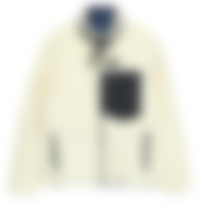 Taion Navy & Ivory Down / Boa Reversible Jacket