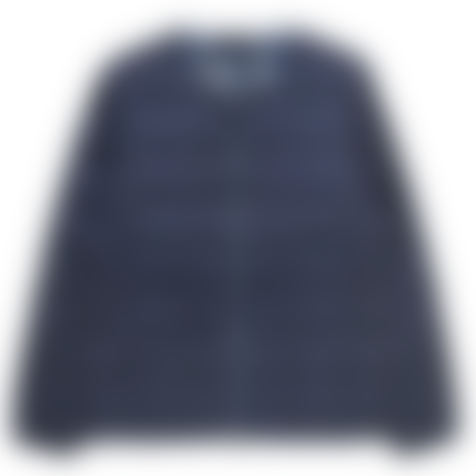 Taion Navy Crew Neck Zip Down Jacket