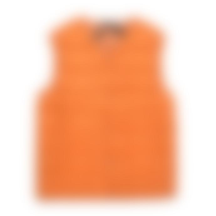 Taion Burnt Orange V Neck Down Vest