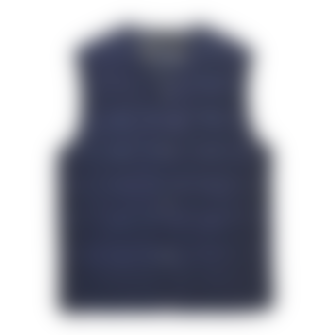 Taion Navy V Neck Down Vest