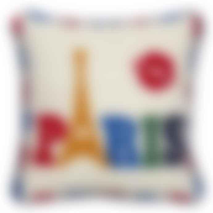 Jonathan Adler Jet Set Paris Needlepoint Pillow