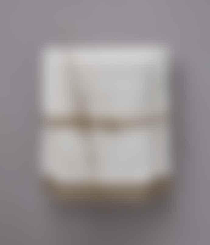 Sylvie Thiriez Ecru Shower Towel With Mountain Heart Trim